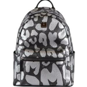 NWT MCM Graffiti Logo Visetos Small Backpack